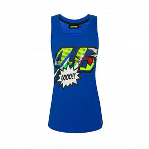 Valentino Rossi VR46 Moto GP Pop Art The Doctor Women's Tank Top Official - allstarsdirect