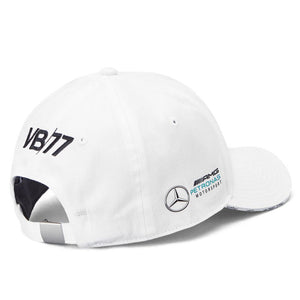 Valtteri Bottas Cap Mercedes AMG Petronas F1 Driver White Official New UK STOCK - allstarsdirect