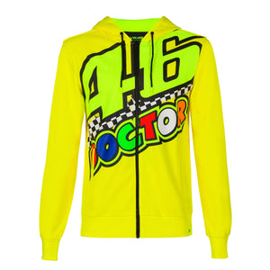 Valentino Rossi Hoodie VR46 MotoGP The Doctor Yellow Official 2020 - allstarsdirect