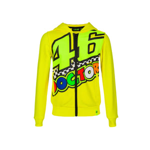 Valentino Rossi Kids Hoodie VR46 MotoGP The Doctor Yellow Official 2020 - allstarsdirect