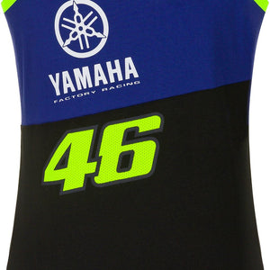 Valentino Rossi Womens Tank Top VR46 MotoGP M1 Yamaha Racing Team Vest Official 2020 - allstarsdirect
