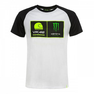Valentino Rossi T-shirt VR46 MotoGP Monster Energy Dual Official 2019 - allstarsdirect