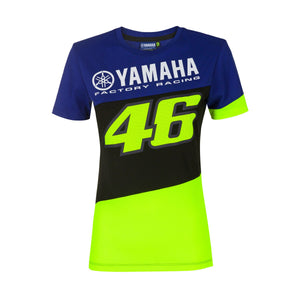 Valentino Rossi  Womens T-Shirt VR46 MotoGP M1 Yamaha Racing Official 2020 - allstarsdirect