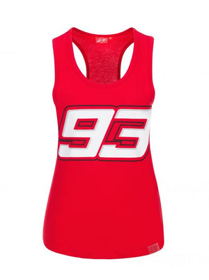 Marc Marquez Tank Top Vest Womens 93 Red MotoGP Official 2020 - allstarsdirect
