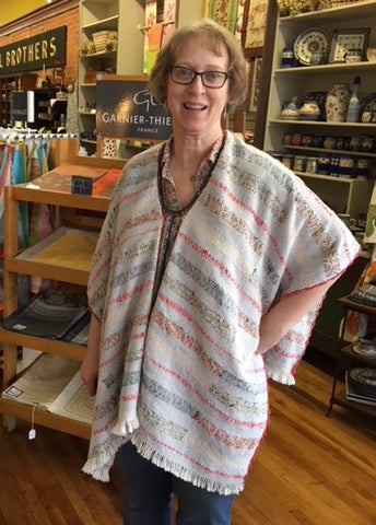 Textural Woven Poncho