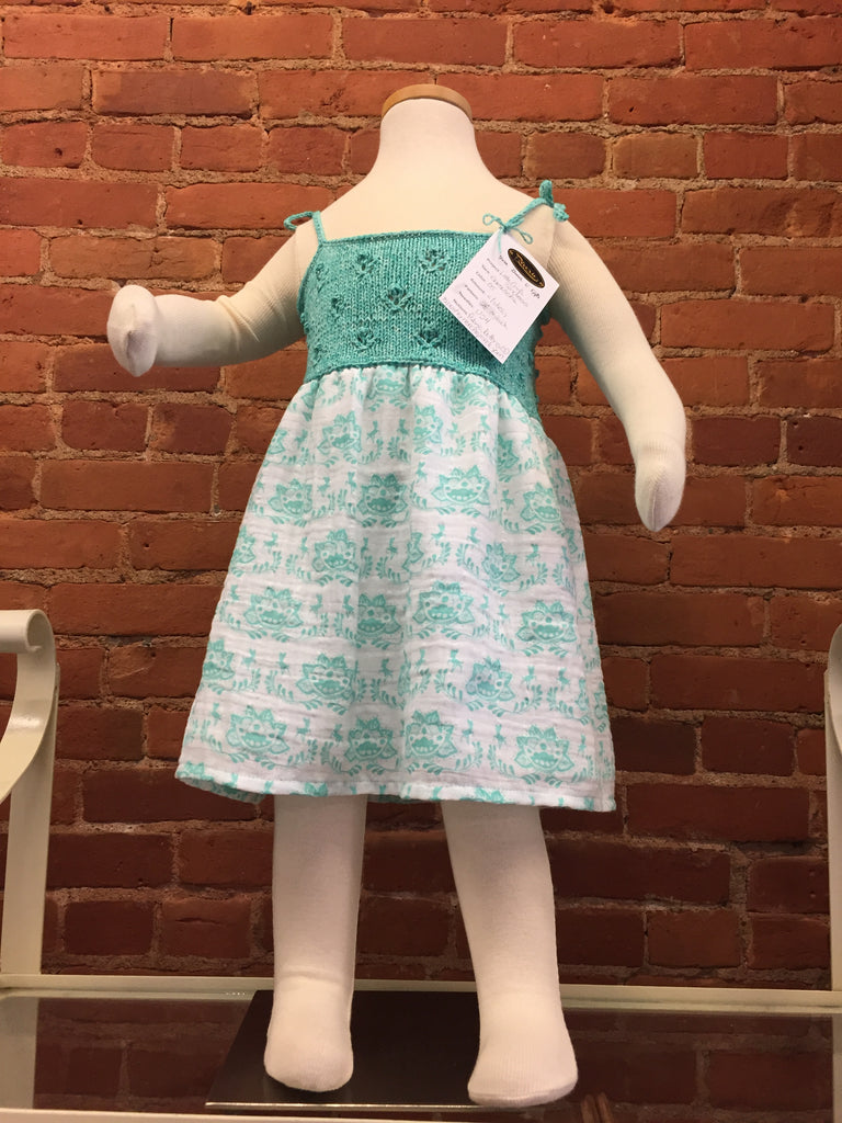 Toddler Sundress  with Knit/Crochet Top