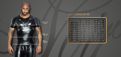 Noir Handmade men`s size chart