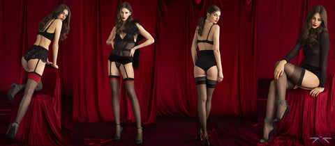 Fiore Sensual collection of seductive European stockings, hold ups and tights from Fiore to make your days sparkle, and you nights memorable.