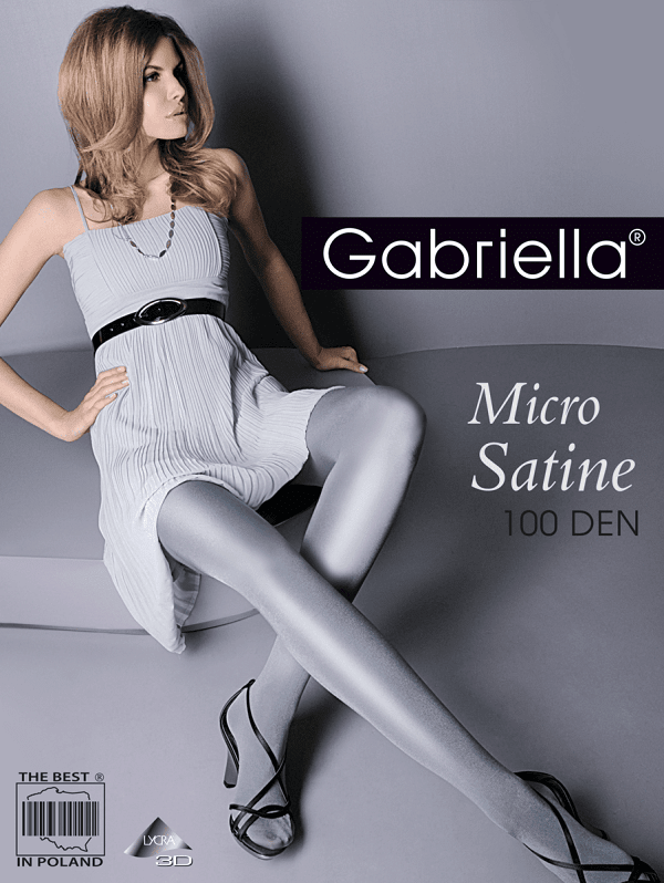 Black Micro Satine 100 denier tights