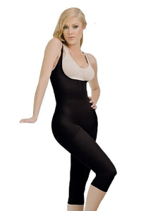 Black Thermal Braless Full Body Capri
