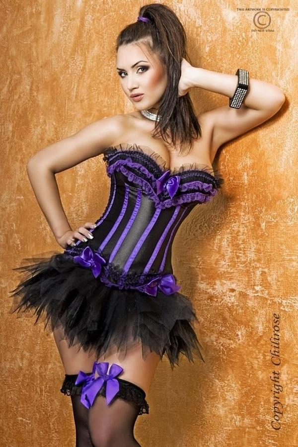 Purple Corset with thong