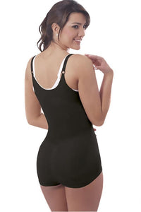 Black Thermal Abdomen Slimmer Bodysuit