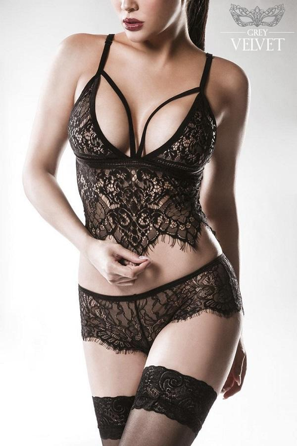Eyelash Lace Cami Set