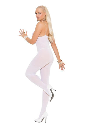 Opaque white body stocking