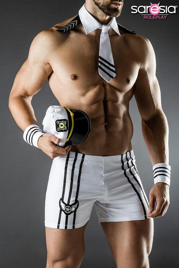 Mens Captain Lingerie Costume