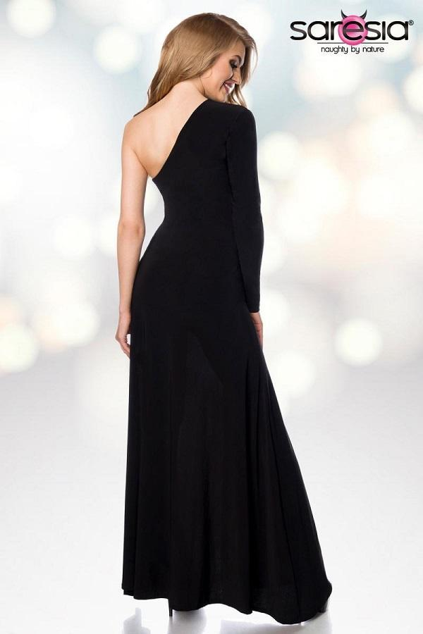 Extravagant black maxi dress