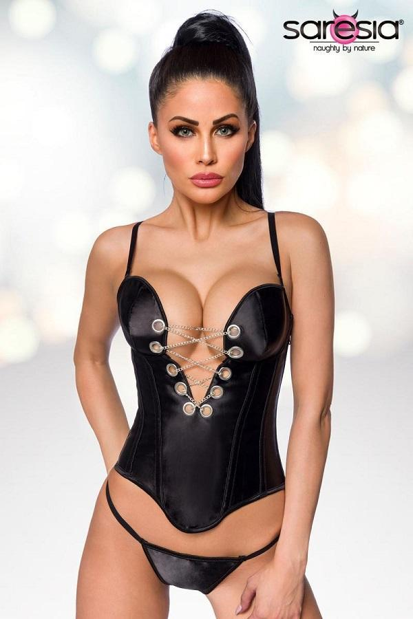 Satin Corset with Chain
