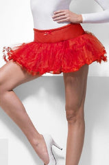 Red tulle petticoat