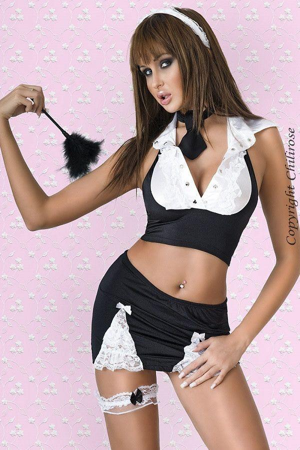 French maid six Piece costume for <span class=money>€24.95 EUR</span> at Flirtywomen