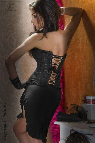 Black Burlesque corset for <span class=money>€24.95 EUR</span> at Flirtywomen