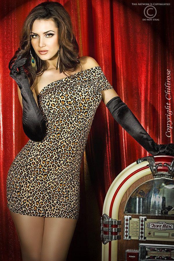 CR 3322 Cheetah print dress