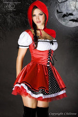 Seven piece fancy dress maid outfit