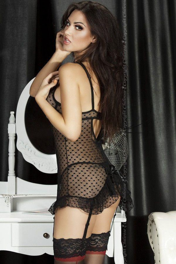 Black lace nightdress