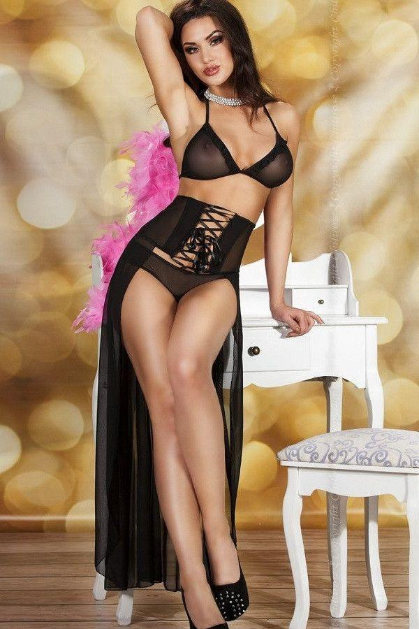 Elegant three piece lingerie set