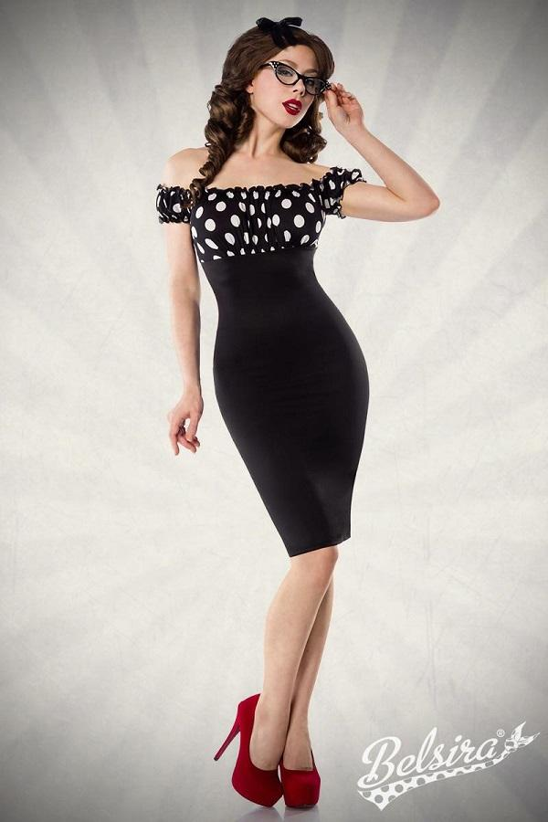 Black Vintage Pencil Dress 50005