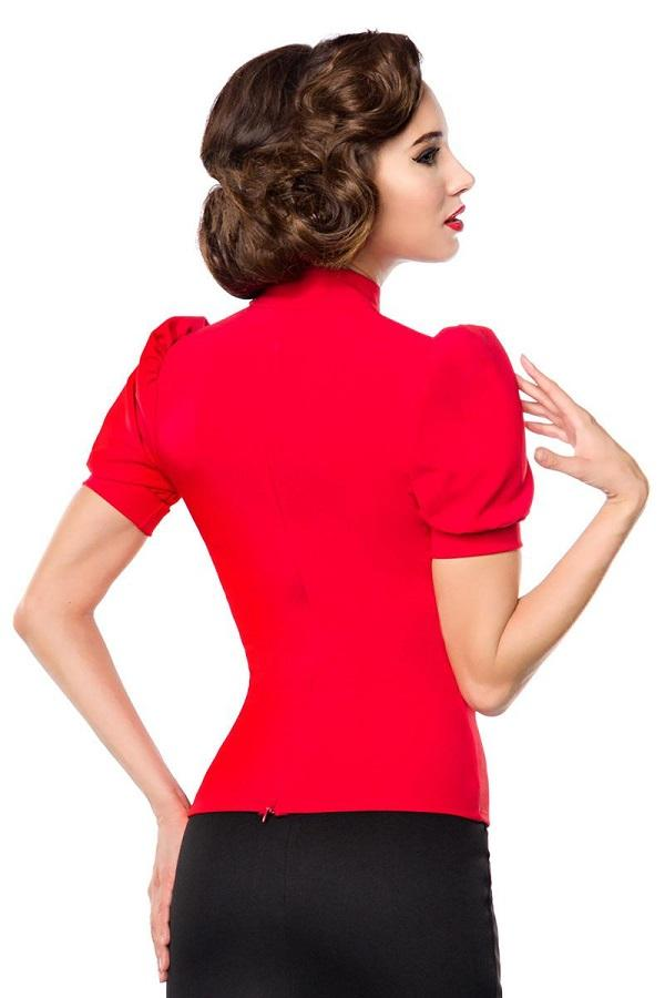 Retro Keyhole Top Red