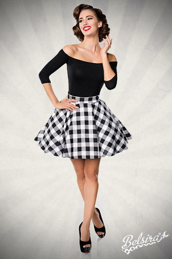 Black Short Swing Skirt