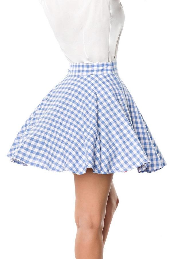 Short Swing Skirt Blue