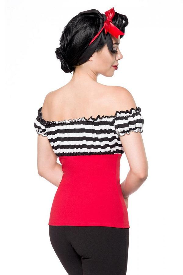 Jersey Top Black and Red