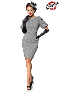 Houndstooth Pattern Pencil Dress