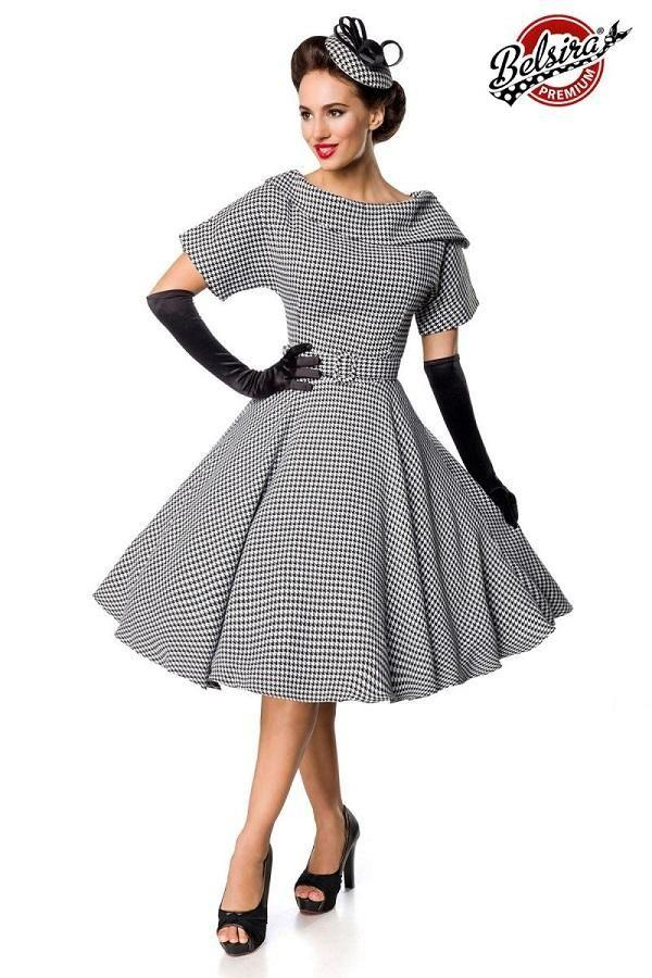 Houndstooth Retro Dress