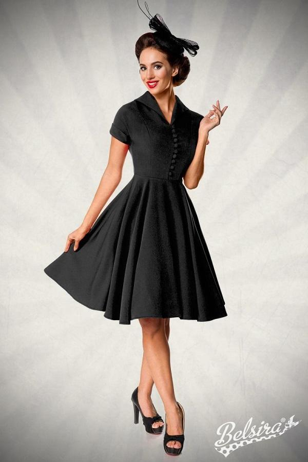 Swing Dress with Button