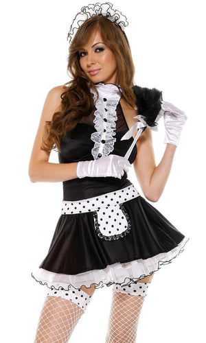 De Luxe French Maid seven piece costume