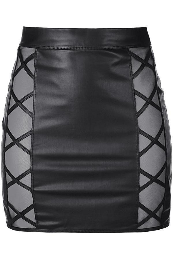 Latex Skirt V-9329