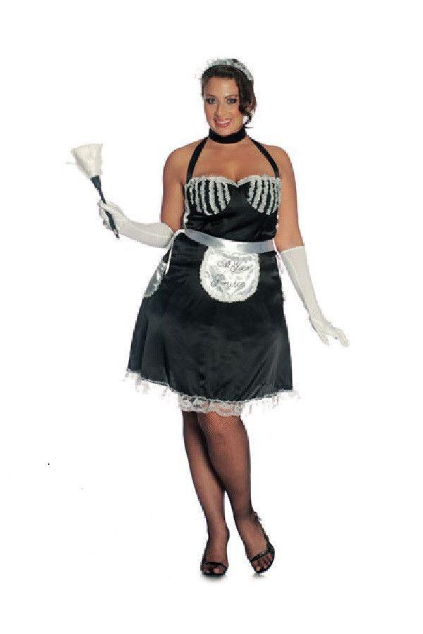 French maid plus size fancy dress costume