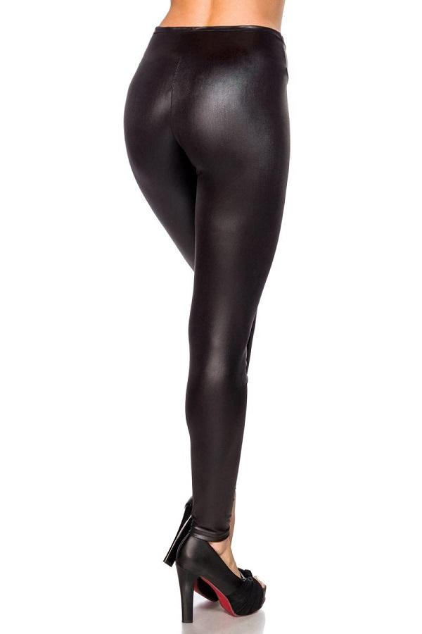 Winter Wet-look Leggings