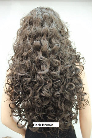 Dark Brown Long Spiral Curl Wig 9369