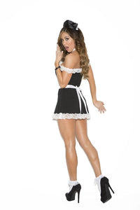 French maid four piece fancy dress costume