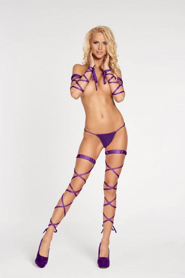 Purple Garter Stocking Artigas