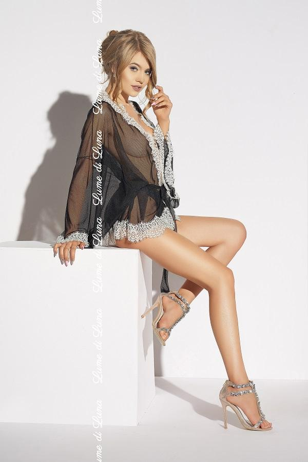 Black Short Robe Ardea