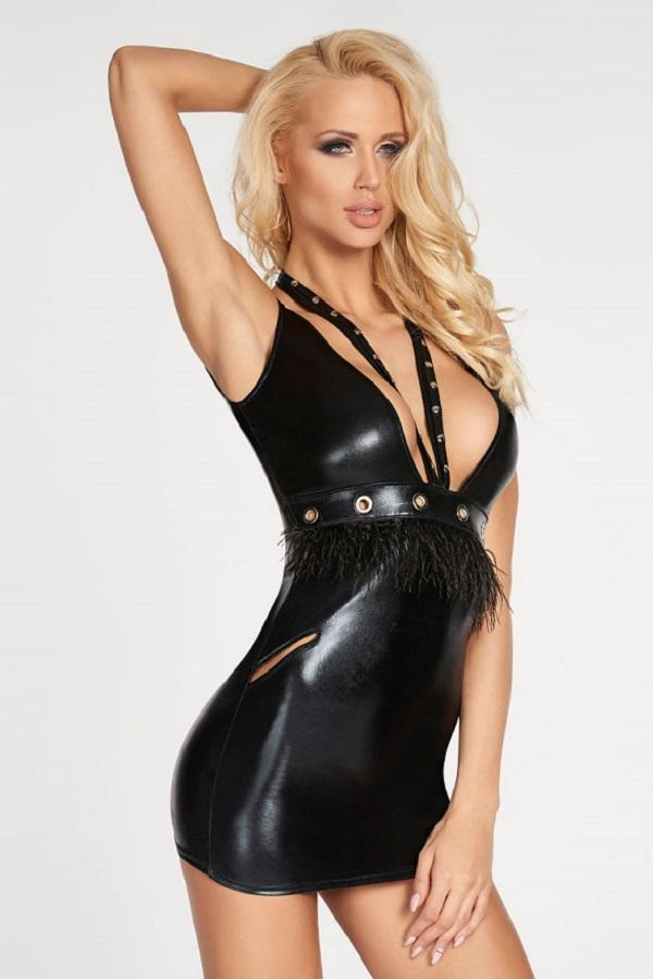 Sexy Wet-Look Dress Baradero