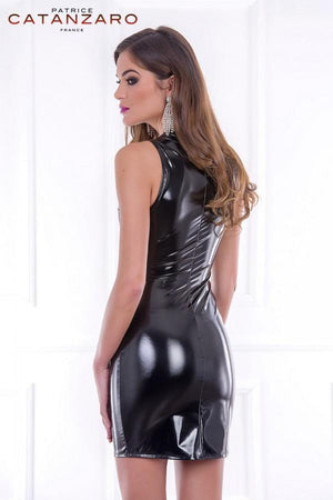 Black PVC Short Dress Roxy