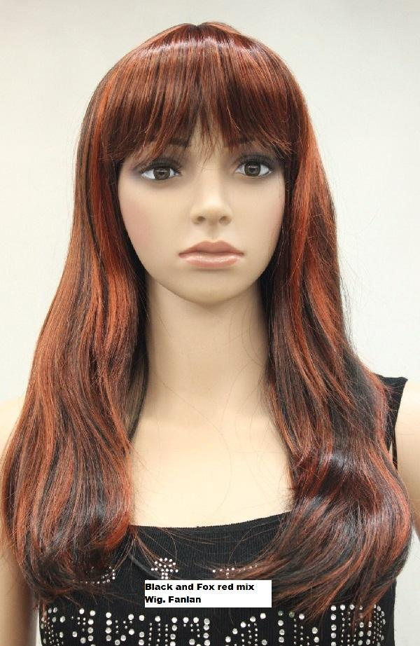 Black and Fox red mix Wig
