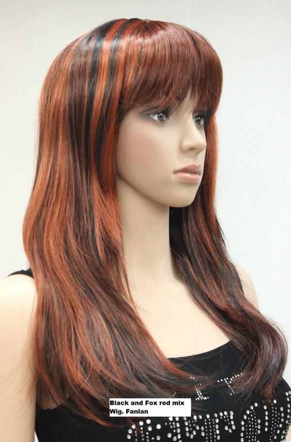 Black and Fox red mix Wig. Fanlan
