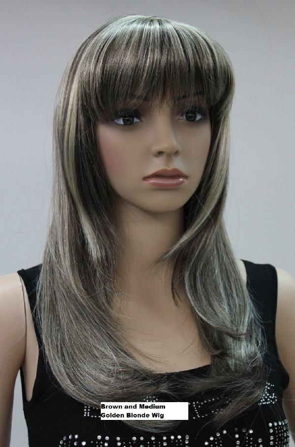 Two Tone Blonde Long Wig