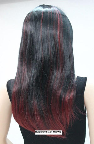Burgundy black Mix Wig